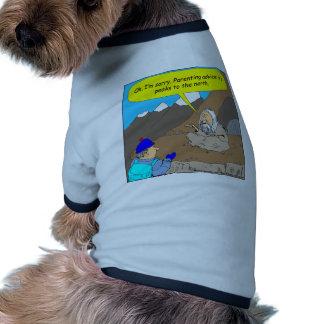 A002 Guru parenting advice cartoon Pet Tshirt