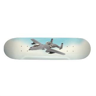 A10 Military Plane Illustration Skate Board Deck