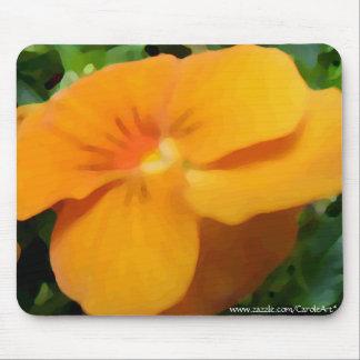 a1 Orange Apricot Viola Mouse Pad