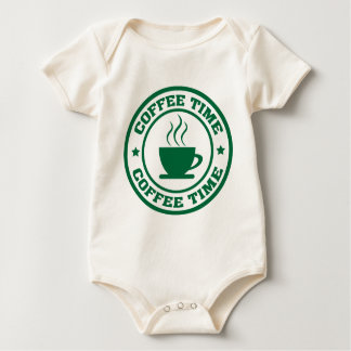 A251 coffee time circle dark green baby bodysuit