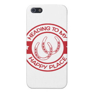 A258 happy place horseshoes red iPhone 5 cases