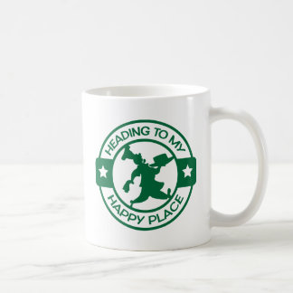 A259 happy place pastry chef dark green basic white mug