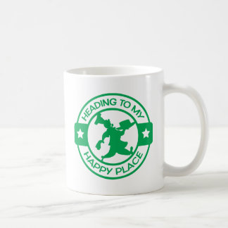 A259 happy place pastry chef green basic white mug