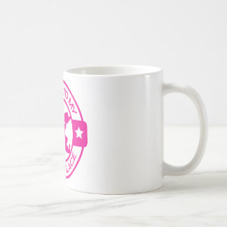 A259 happy place pastry chef hot pink basic white mug