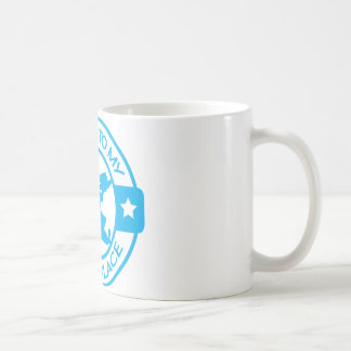 A259 happy place pastry chef light blue basic white mug