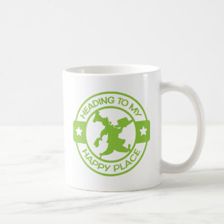 A259 happy place pastry chef lime green classic white coffee mug