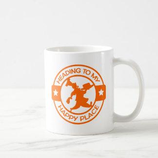 A259 happy place pastry chef orange basic white mug