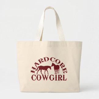 A262 hardcore cowgirl burgundy large tote bag