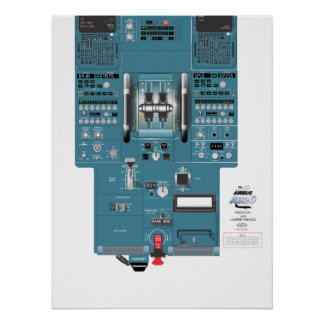 A320 Lower Aft Panel Poster
