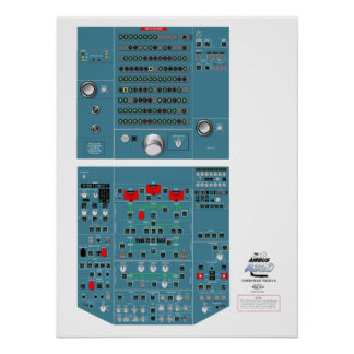 A320 Overhead Panel Poster