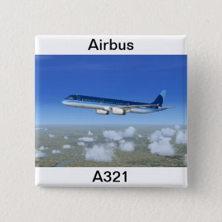A321 Jet Airliner Aircraft 15 Cm Square Badge