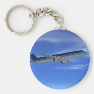 A321 Jet Airliner Aircraft Key Ring