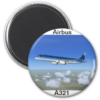 A321 Jet Airliner Aircraft Magnet