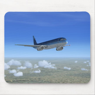 A321 Jet Airliner Aircraft Mouse Mat