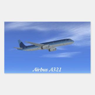 A321 Jet Airliner Aircraft Rectangular Sticker