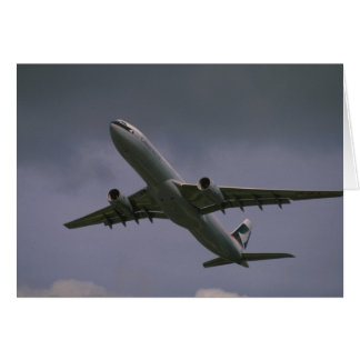 A330 airbus, Cathay Pacific airliner Greeting Card