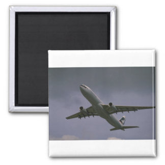 A330 airbus, Cathay Pacific airliner Square Magnet