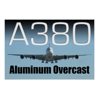 A380 Aluminum Overcast Poster