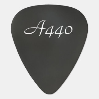 A440 on Gray Guitar Pick