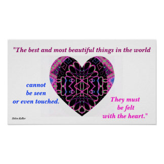 """A61 """"Felt with the Heart"""" Poster"""