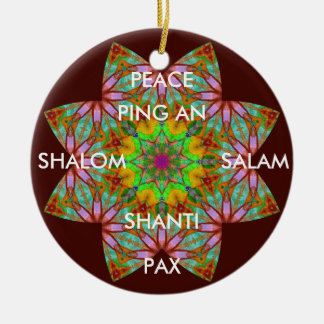 A62 Kaleidoscopic Peace Ornament.1 Christmas Ornament