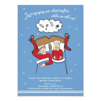 A6 Christmas Card Pregnancy Announcement - Blonde