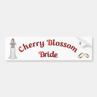 A97 Cherry Blossom Bride Bumper Sticker