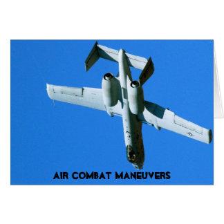 A-10 AIR COMBAT MANEUVERS (ACM) GREETING CARD