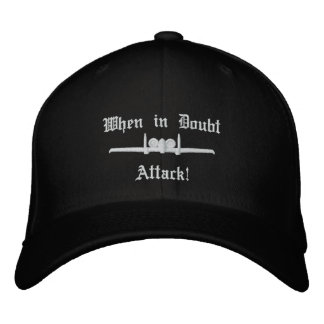 A-10 Attack Golf Hat W/Call Sign on Back Embroidered Hats