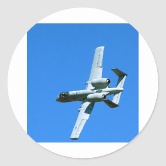 A-10 LIGHTNING BOLT CLASSIC ROUND STICKER