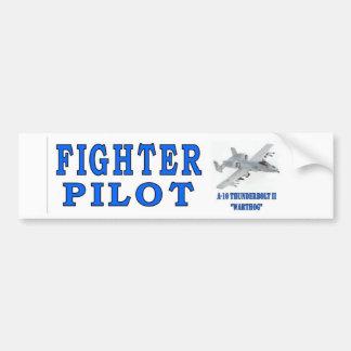 A-10 THUNDERBOLT II FIGHTER PILOT CAR BUMPER STICKER