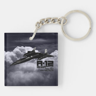 A-12 Double-Sided SQUARE ACRYLIC KEY RING