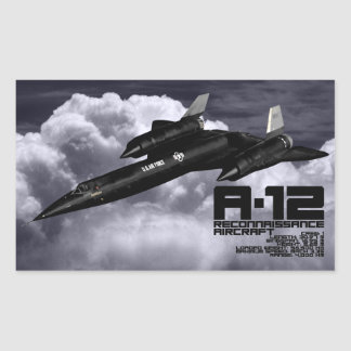 A-12 RECTANGULAR STICKER