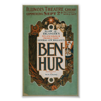 A 1901 theatre production vintage poster