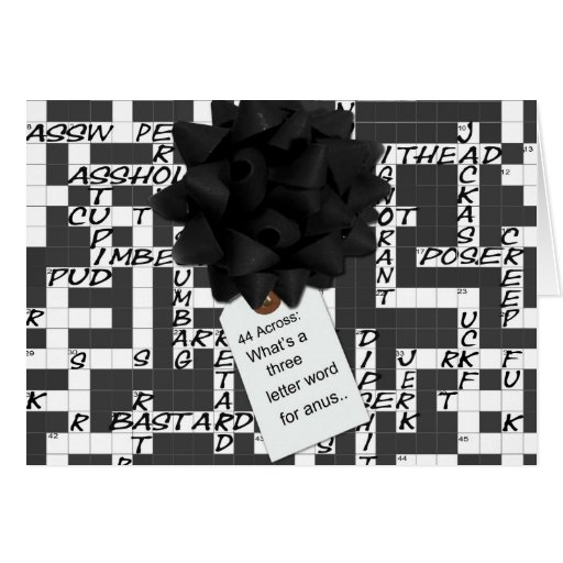 A 3 letter word... greeting card