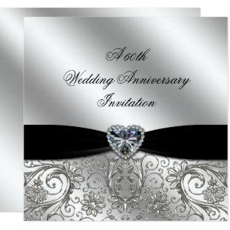 Lovely A 60th Diamond Wedding Anniversary Invite