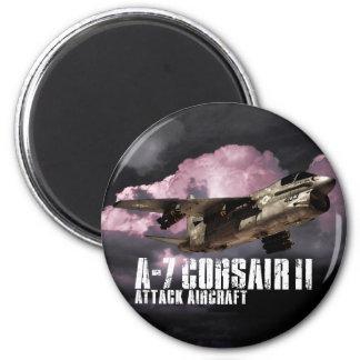 A-7 Corsair II 6 Cm Round Magnet