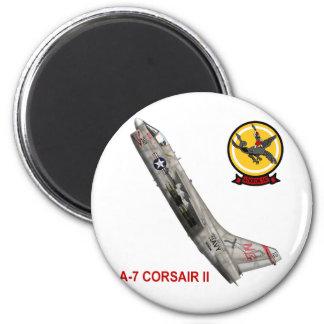 A-7 Corsair II VA-147 Argonauts 6 Cm Round Magnet
