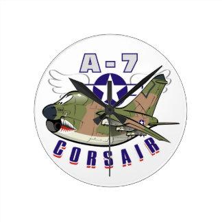 a-7 corsair round clock