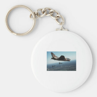 A-7 Dropping Supllies Basic Round Button Key Ring