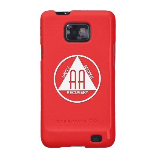 A.A. Logo Samsung Galaxy S Case Sponsor Red Galaxy SII Covers