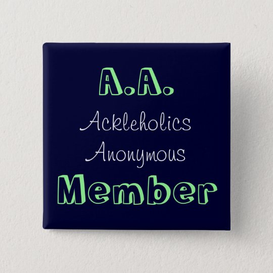 A.A. Member 15 Cm Square Badge