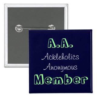A.A. Member 15 Cm Square Badge