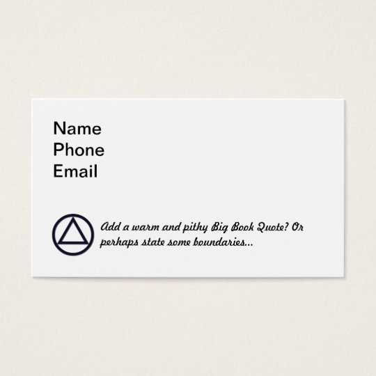 A.A. Symbol Business Card