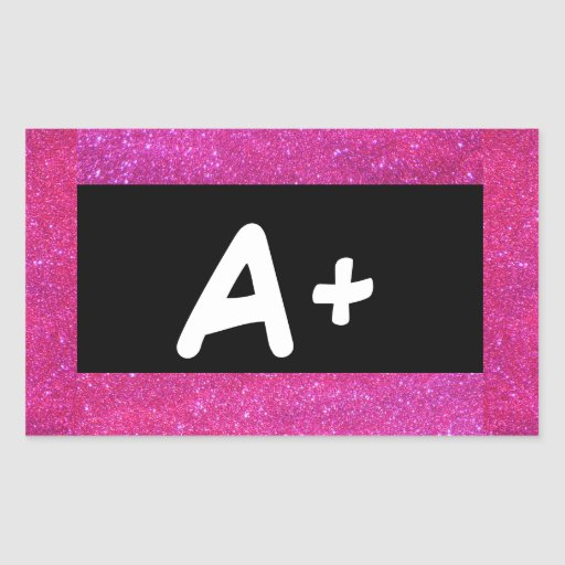A+ ABC Primary Colors Pink Stickers 5