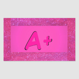 A+ ABC Primary Colors Pink Stickers 5a