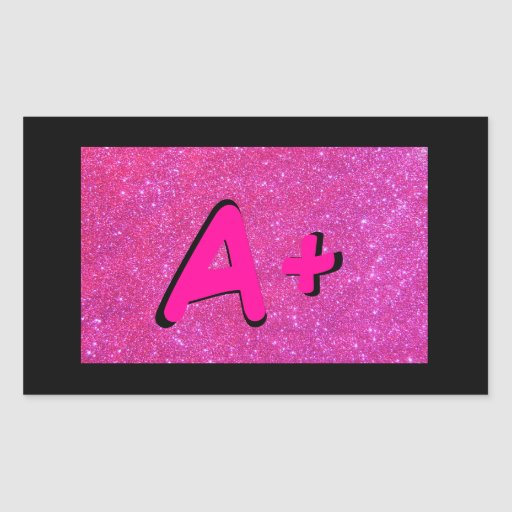 A+ ABC Primary Colors Pink Stickers 5b