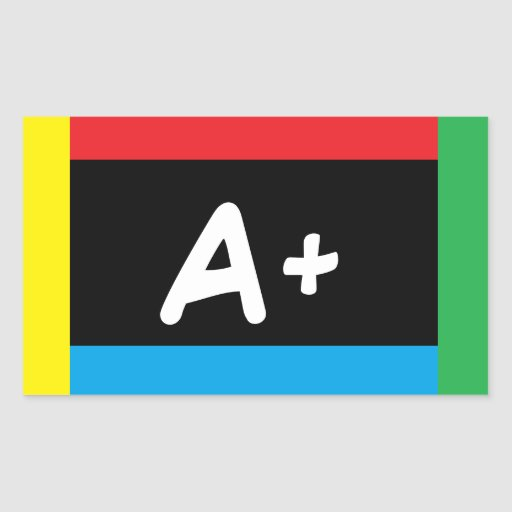 A+ ABC Primary Colors Stickers 4