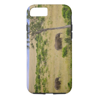 A African Elephant grazing in the fields of the 2 iPhone 8/7 Case