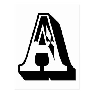 """A"" Alphabet Letter Tee Postcard"